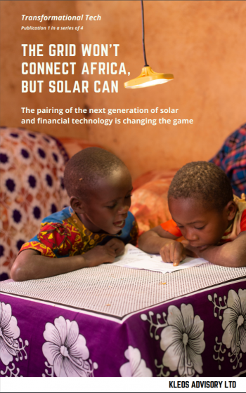 The grid won't connect Africa, but solar can